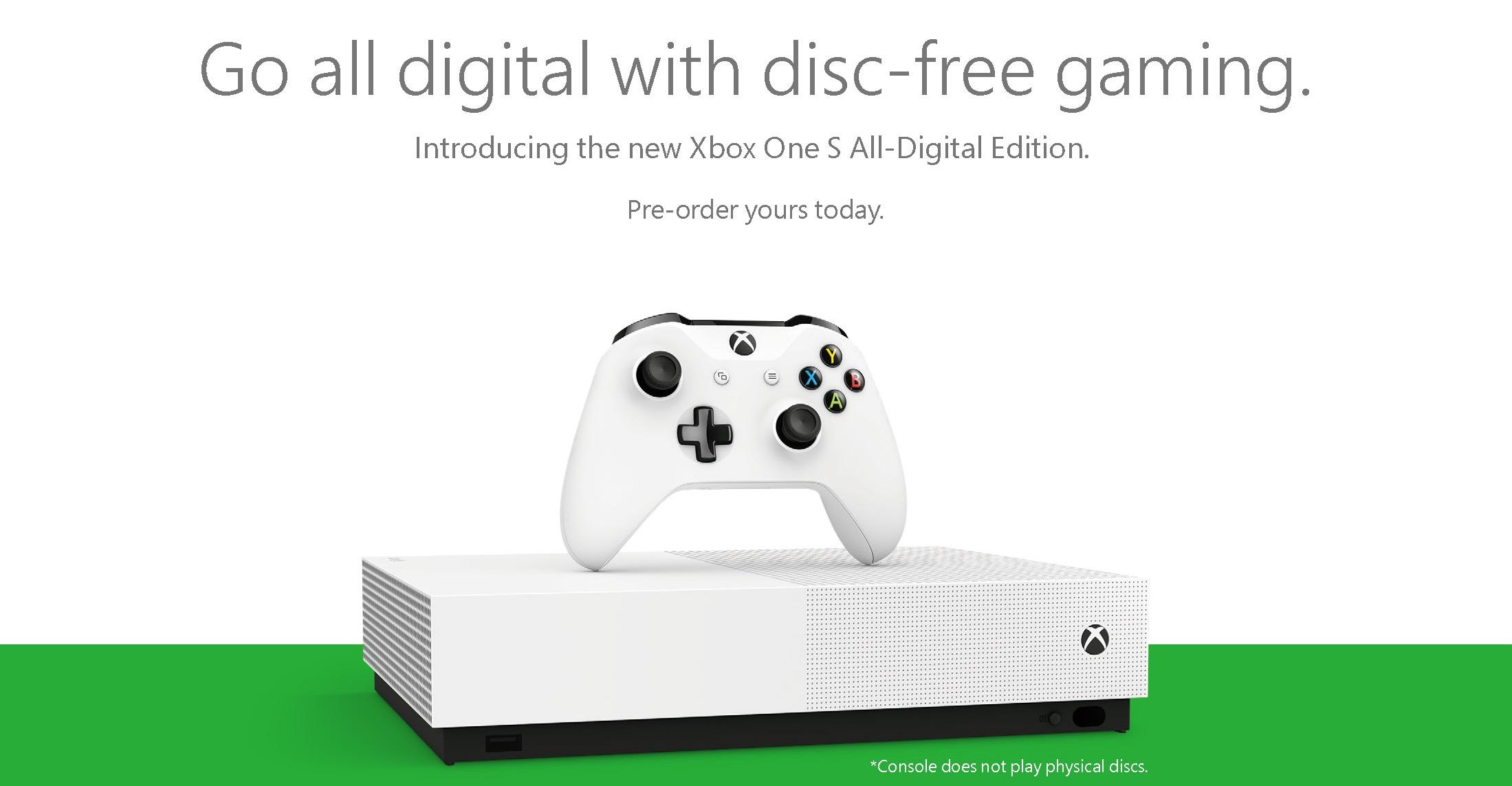 Xbox One: Microsoft annuncia la versione All-Digital e Xbox Game Pass Ultimate 1