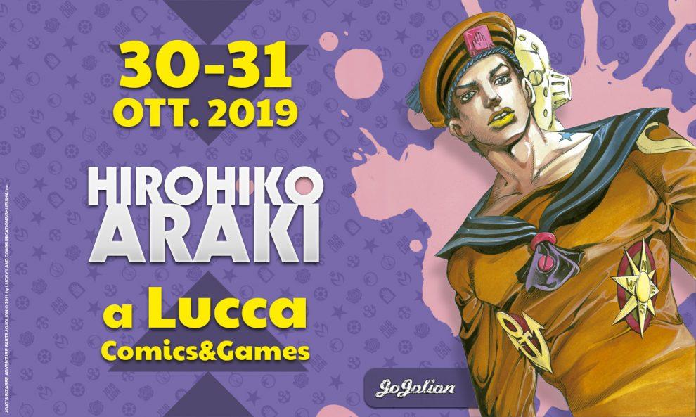 Araki al Lucca Comics & Games 2019 e come ottenere un suo disegno 1