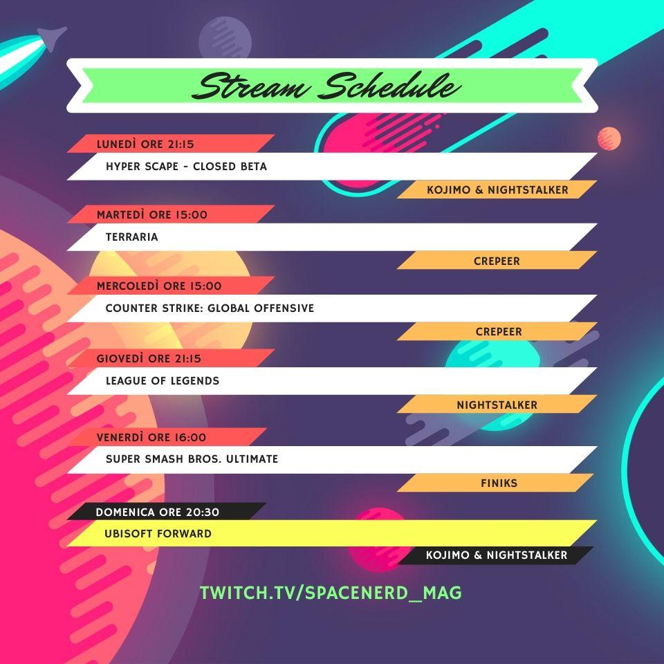 Guida alle dirette del nostro canale Twitch: schedule, floppy, shop e... tanto altro ancora! 2